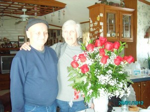 Anniversary roses for 45 years of marriage!